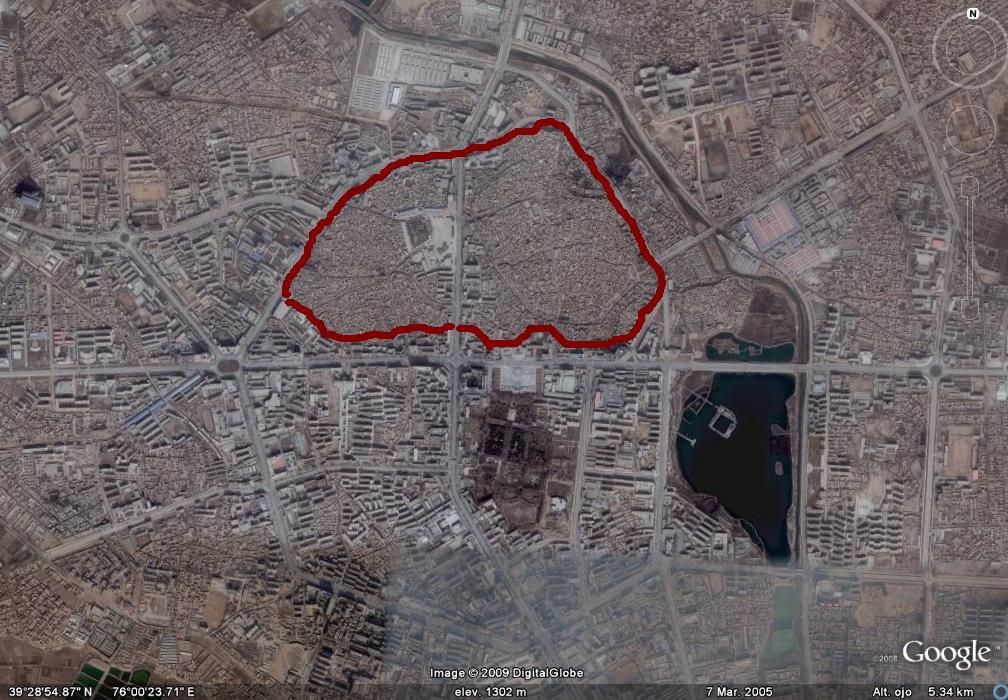 kashgar map