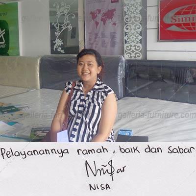 Testimoni Ibu Nisa - Galleria Furniture Bandung