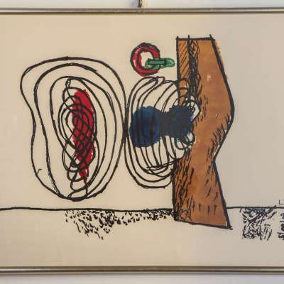LeCorbusier, Composizione, 1963, Litografia, 45,5x65cm