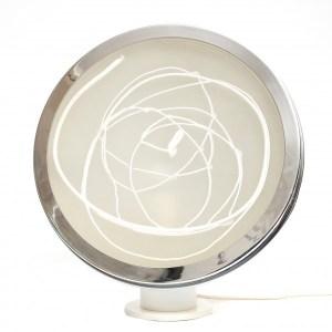 Angelo Brotto, Lampada sfera, anni '70, vetro di murano e metallo