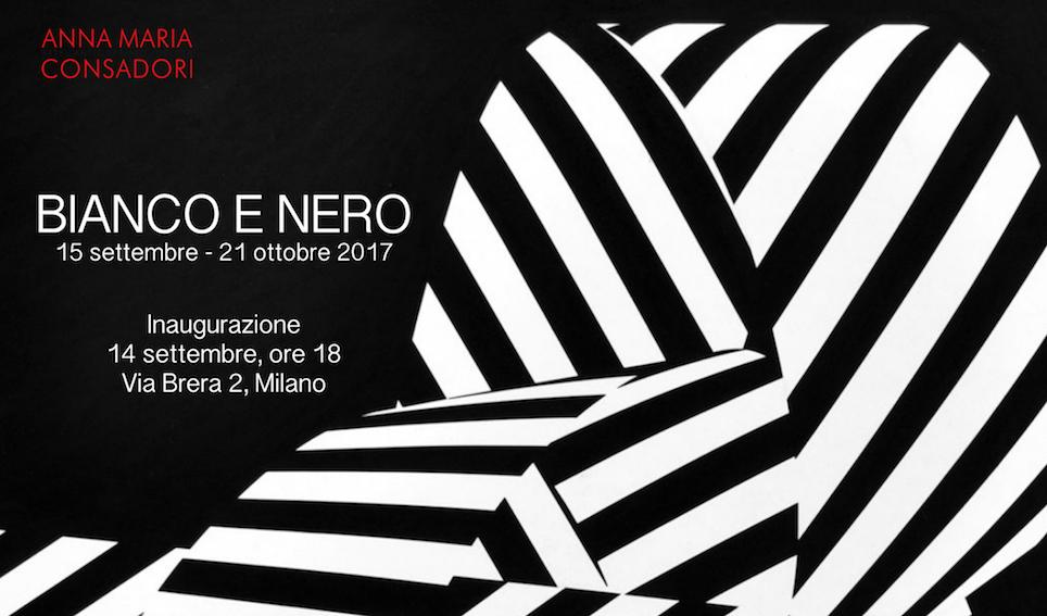 Mostra Bianco e nero, dal 15 settembre 2017 alla Galleria Consadori