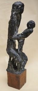 Giancarlo Sangregorio, Donna con bambino, 1962, cm 17x13x92h, Bronzo, Pezzo unico, Autentica dell'artista
