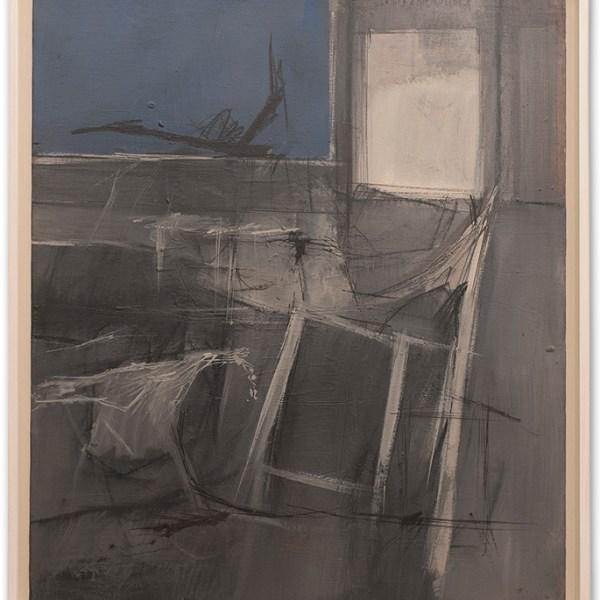Fernando De Filippi, Interno, 1962, cm 70x60, Olio su tela