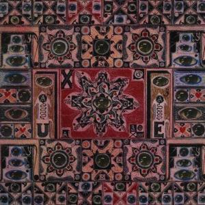 Guy Harloff, Shirvani... Samarcande... Tabriz..., 1972, collage e inchiostri su carta, cm. 65x43,5. Dettaglio