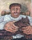 Senza titolo, Gino Covili, 34×43, dipinto su carta incollato su masanite