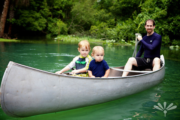 canoeing with Daddy