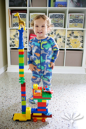 so proud of his tall tower