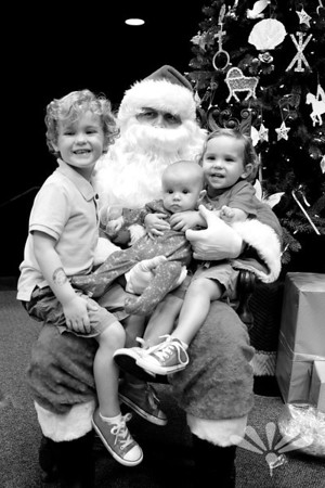 Santa and the boys 2013