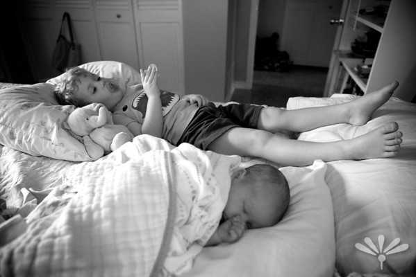 Luc and Jay resting together