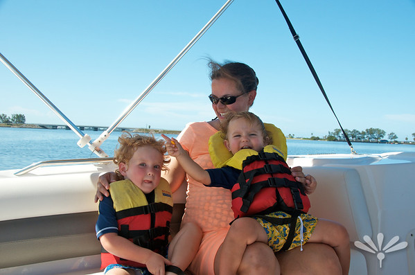 Kristen, Jay and Charlie on the boat