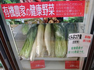 有機農家の健康野菜