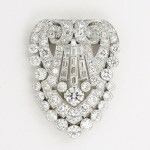 Art Deco Diamond Clip-Brooch , Hennell London