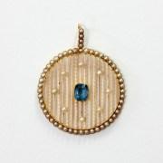 Aquamarine Pearl Pendant