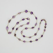 Amethyst Baroque Pearl Chain