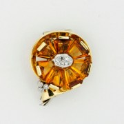 Citrine Diamond Brooch, Cartier New York