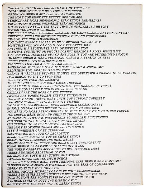 Jenny Holzer, Truisms, 1978