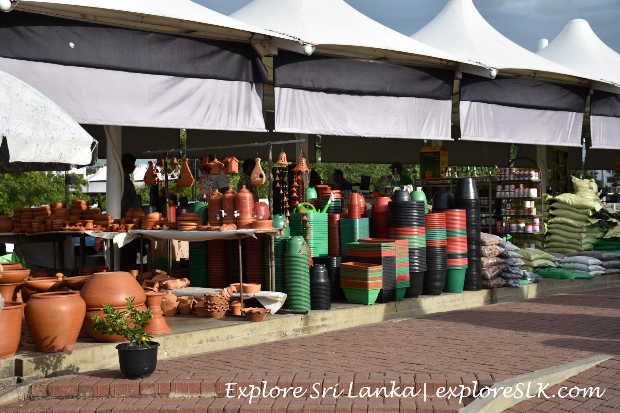 Stalls at Diyatha Uyana