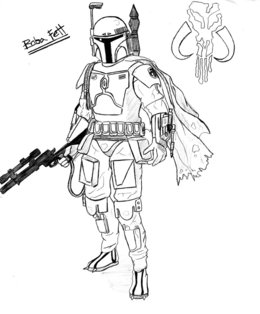 boba fett coloring page # 19