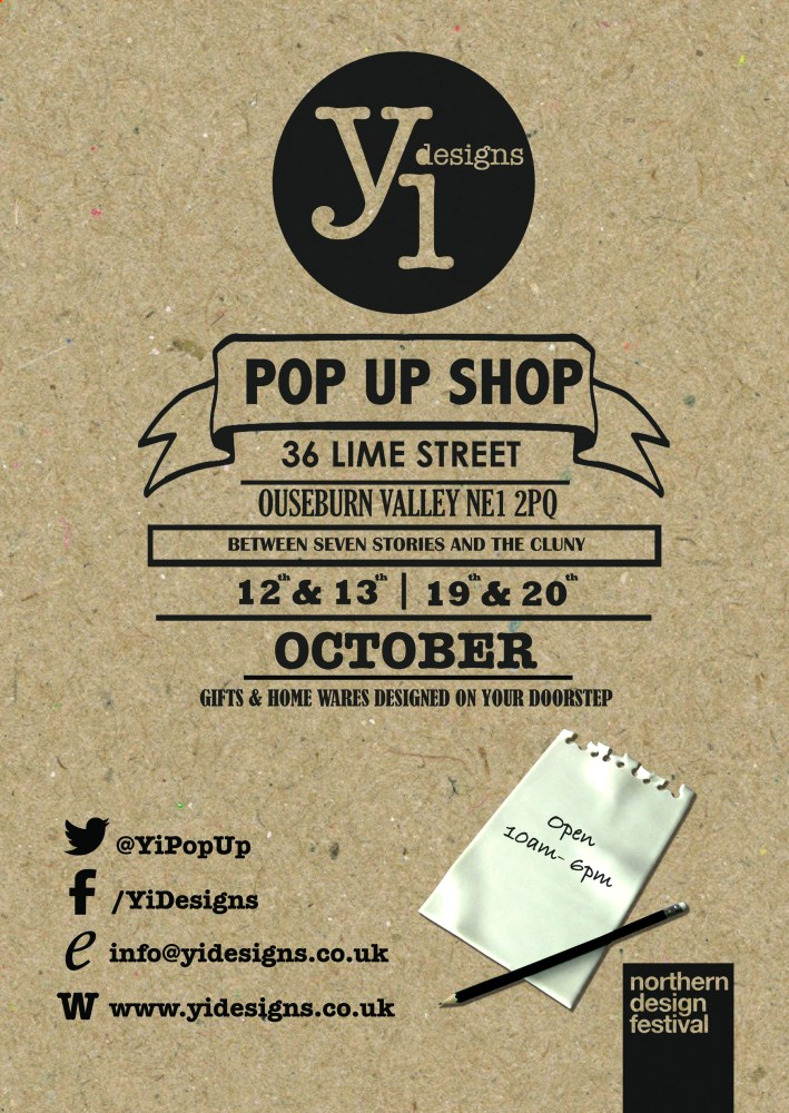 Pop Up Shop opens its doors on Friday Oct 11th 7pm-10pm