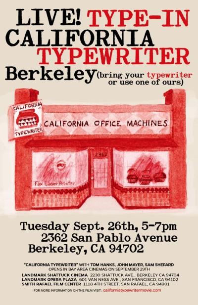 Type-In at California Typewriter