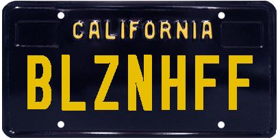 Classic black license plate