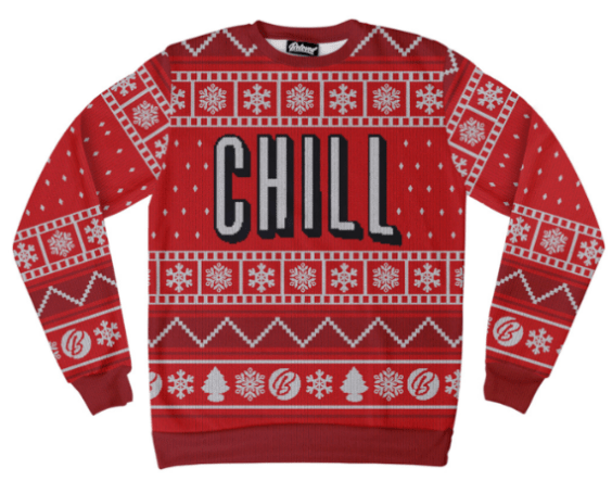 Netflix and Chill holiday sweatshirt by Beloved
