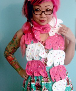 Circus cookies scarf by Twinkie Chan