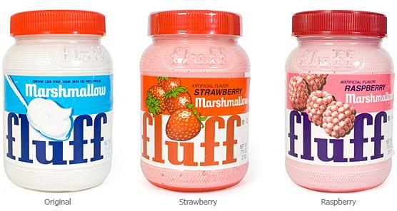 All three flavors of Marshmallow Fluff by Durkee-Mower