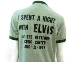 I spent a night with Elvis at the Hartford Civic Center t-shirt 1977