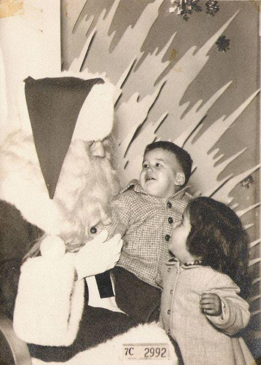 Santa, me, and jutting ice