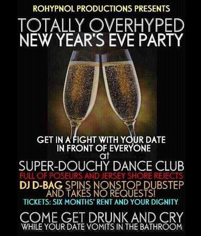 Douchey New Year's Eve
