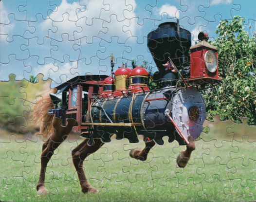 Puzzle Montage Art by Tim Klein