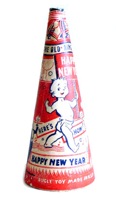 Vintage noisemaker for New Year's Eve
