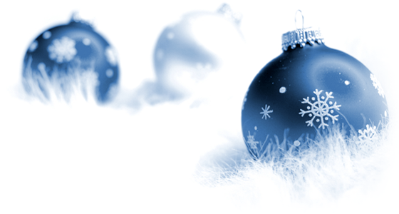 Blue and white Holiday ball ornaments