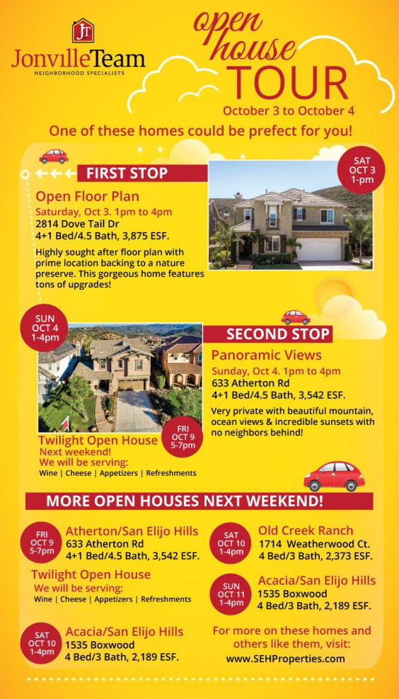 Open Houses this weekend!