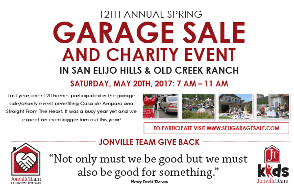 12th Annual Spring Garage Sale! Saturday, May 20th!