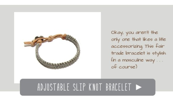 adjustable slip knot bracelet