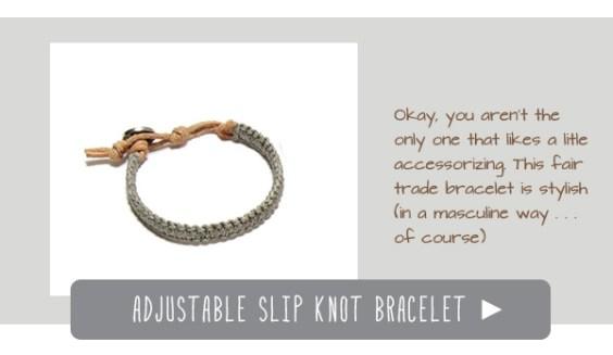 adjustable slip knot bracelet