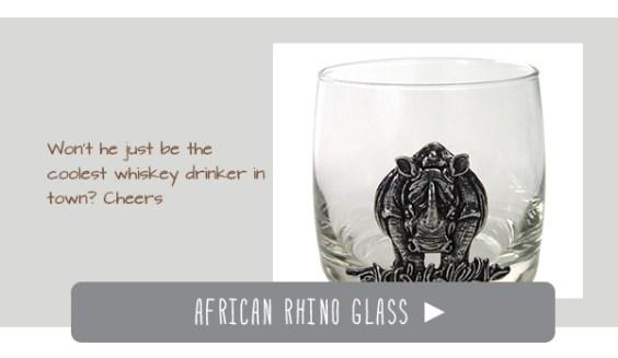 Rhino whiskey glass