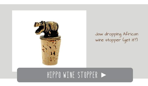 hippo wine stopper