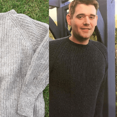 Michael - Fishermans Rib Sweater in Wensleydale Longwool