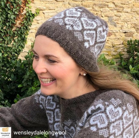 Debra Stephenson wears After the Rain jumper and hat