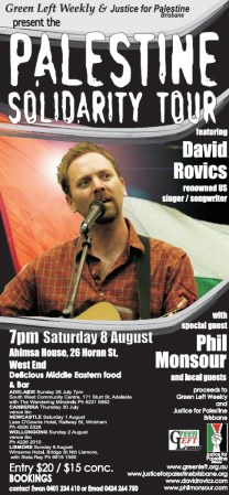Palestine solidarity tour poster