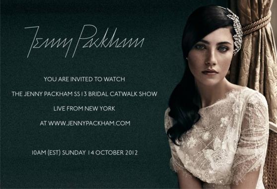 Jenny Packham Online Bridal Fashion Show