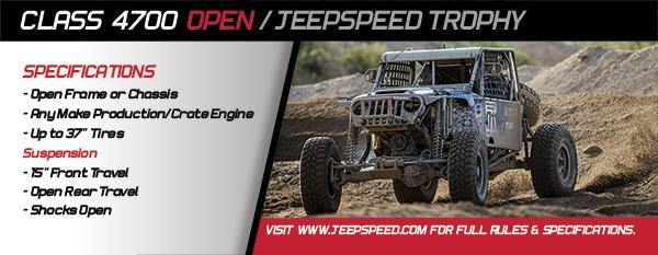 Class 4700 Open / Jeepspeed Trophy