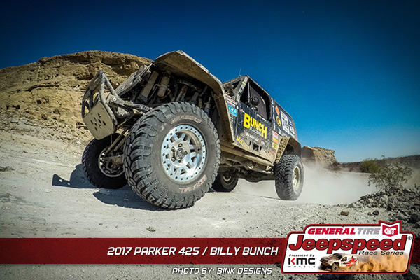 Billy Bunch, Jeepspeed, General Tire, KMC Wheels, Bink Designs