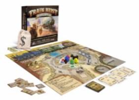 Train Heist game pieces