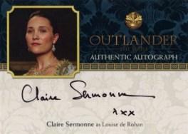 Claire Sermonne Autograph Card