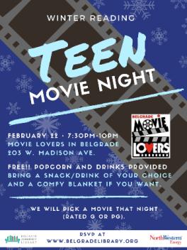 Teen Movie Night - Feb 22