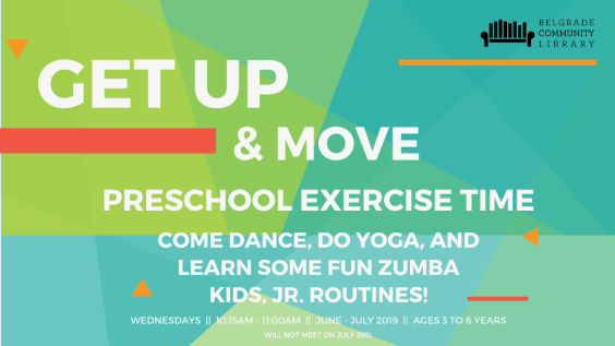Summer Get up and move flyer